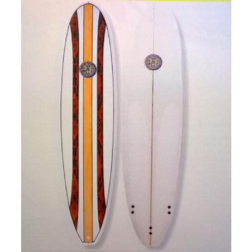 "Hawaiian Soul 7' 4"" Mini Mal Surfboard Inc. Fins"